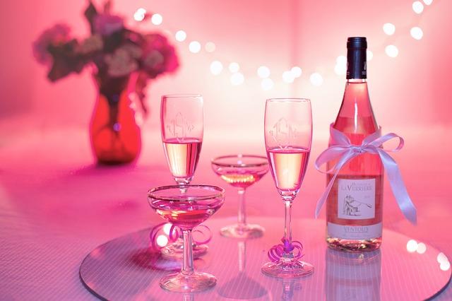 ružové víno na oslave